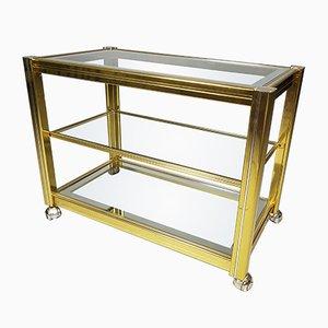 Vintage Brass & Glass Bar Cart