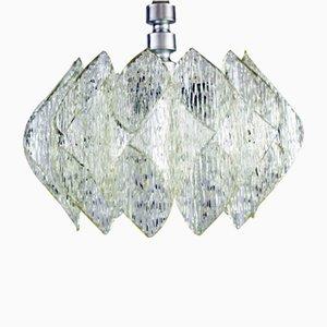 Lámpara de araña vintage de vidrio