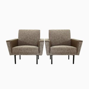 Grey Mid-Century Armchairs, 1950s, Set of 2