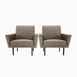 Grey Mid-Century Armchairs, 1950s, Set of 2