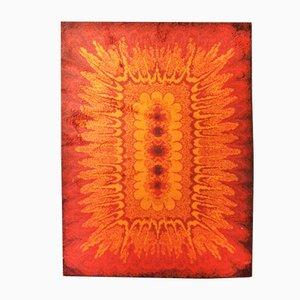 Orangenfarbener Modell Hippie Minarett Teppich, 1970er
