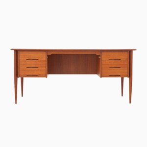 Danish Executive Teak Desk, 1950s