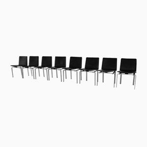 VI 3 Chairs by Jørgen Høj & Poul Kjaerholm for Niels Vitsøe, 1962, Set of 8