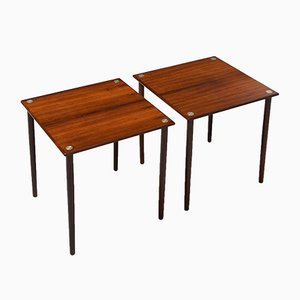 Mid-Century Rosewood Side Tables by Georg Petersens for GP Farum, Set of 2