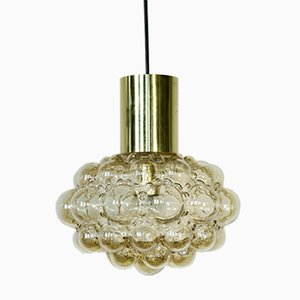 Mid-Century Bubble Lampe mit Messing von Helena Tynell für Limburg