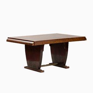 Tavolo da pranzo Art Deco impiallacciato in noce