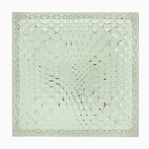 Deutsche Geometrische Glas Wand- oder Deckenlampe von Wila, 1960er