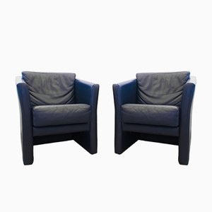 Cube Club Chairs from Molinari, 1980s, Set of 2