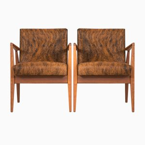 Mid-Century Lounge Chairs by Jens Risom, Set of 2