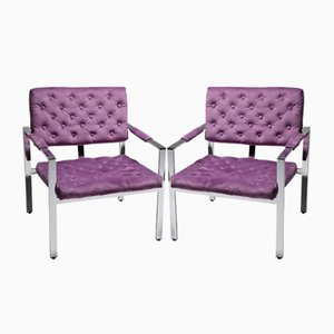 Armchairs by Milo Baughman, 1970s, Set of 2