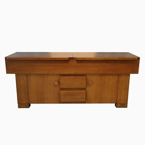Vintage Walnut Sideboard by Giovanni Michelucci for Poltronova