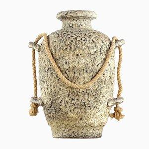 Deutsche Vintage Fat Lava Vase, 1960er