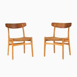 Chaises de Salon CH 23 par Hans Wegner pour Carl Hansen & Søn, 1960s, Set de 4
