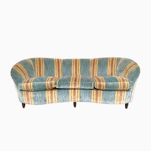 Italienisches Sofa aus Samt, 1950er