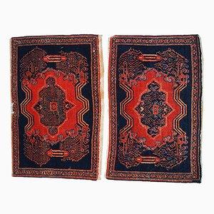 Tappeti antichi fatti a mano, Medio Oriente, set di 2