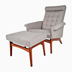 Mid-Century Danish Lounge Chair & Ottoman by Poul Jensen