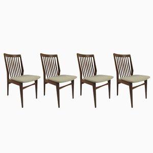 Dutch Walnut Dining Chairs, 1960s, Set of 4