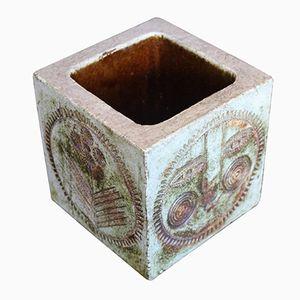 Ceramic Square Vase by Roger Capron, 1960s