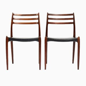 Model 78 Chairs by Niels O. Møller for J.L. Mollers, 1960s, Set of 2