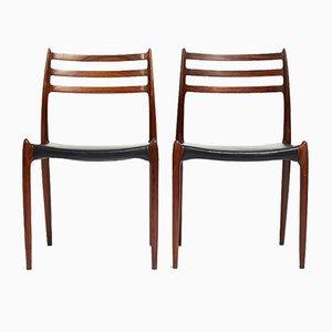 Modell 78 Stühle von Niels O. Møller für J.L. Mollers, 1960er, 2er Set
