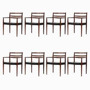 Chaises de Salon, Danemark, 1960s, Set de 8