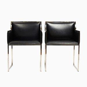 Italienische Vintage Stühle, 1970er, 2er Set