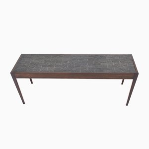 Dutch Mid-Century Modern Wenge Coffee Table with Slate Top, 1960s