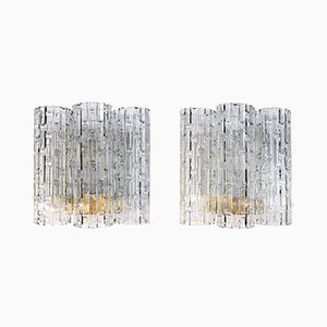 Wall Sconces with Large Murano Glass Tubes by Doria Leuchten, 1960s, Set of 2
