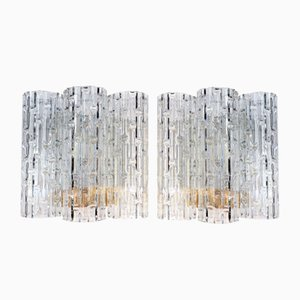 Wandlampen mit Langen Murano Glastuben von Doria Leuchten, 1960er, 2er Set