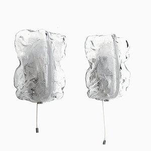 Apliques de cristal de Murano de J.T. Kalmar, años 60. Juego de 2