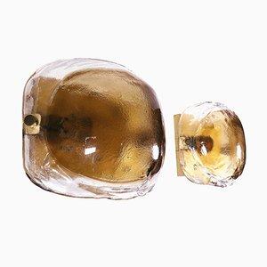 Apliques vintage de cristal de Murano de Kaiser Leuchten. Juego de 2