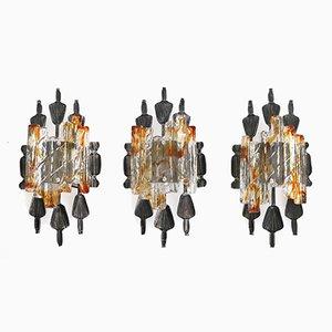 Brutalistische Vintage Wandlampen von A & E Design, 3er Set
