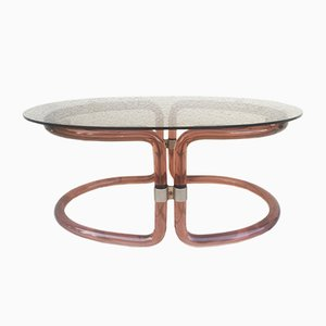 Italian Plexiglass and Glass Coffee Table, 1970s