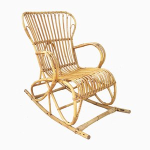 Vintage Rattan Rocking Chair, 1960s
