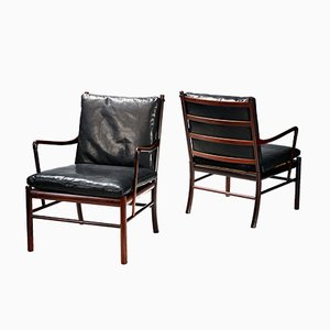 PJ-149 Colonial Chairs by Ole Wanscher for Poul Jeppesen, 1949, Set of 2