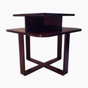 Table Basse Art Déco Rectangulaire en Bois Courbé