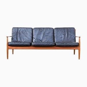 Mid-Century Drei-Sitzer Sofa von Grete Jalk für France & Søn