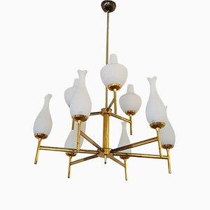 Italian Tulip Ceiling Lamp, 1950s