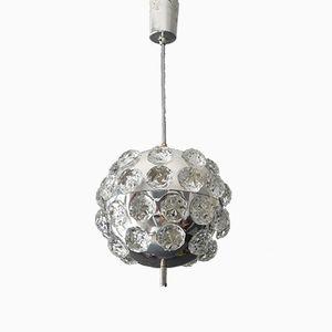 Space Age Chrom Kugel Deckenlampe, 1960er