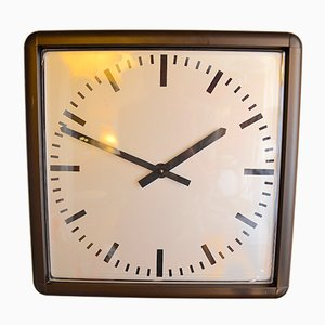 Reloj de pared brutalista industrial, 1988