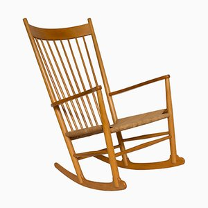 Rocking chair J16 par Hans Wegner, 1960s