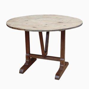 Tavolo antico in legno di ciliegio e pino