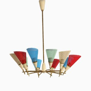 Colorful Italian Ceiling Lamp, 1950s