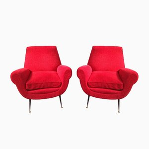 Mid-Century Armchairs by Gigi Radice for Minotti, Set of 2