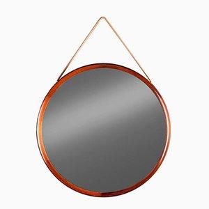 Miroir Rond en Palissandre par Uno & Östen Kristiansson pour Luxus