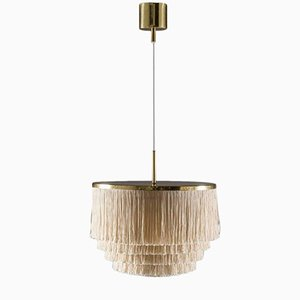 Swedish Pendant in Brass with Silk Fringes by Hans-Agne Jakobsson, 1960s