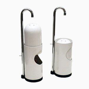 Tischlampen aus Emaille und Verchromtem Metall mit Verschiebbaren Schirmen, 1970er, 2er Set