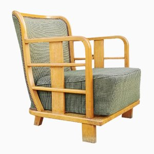 Modernist French Low Armchair, 1920s