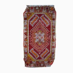 Alfombra Yastik turca antigua hecha a mano