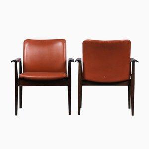 209 Diplomat Sessel aus Mahagoni & Braunem Leder von Finn Juhl für Cado, 1960er
